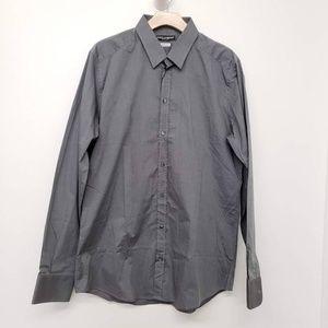 Dolce & Gabbana Gold Fit Button Up Shirt - Grey